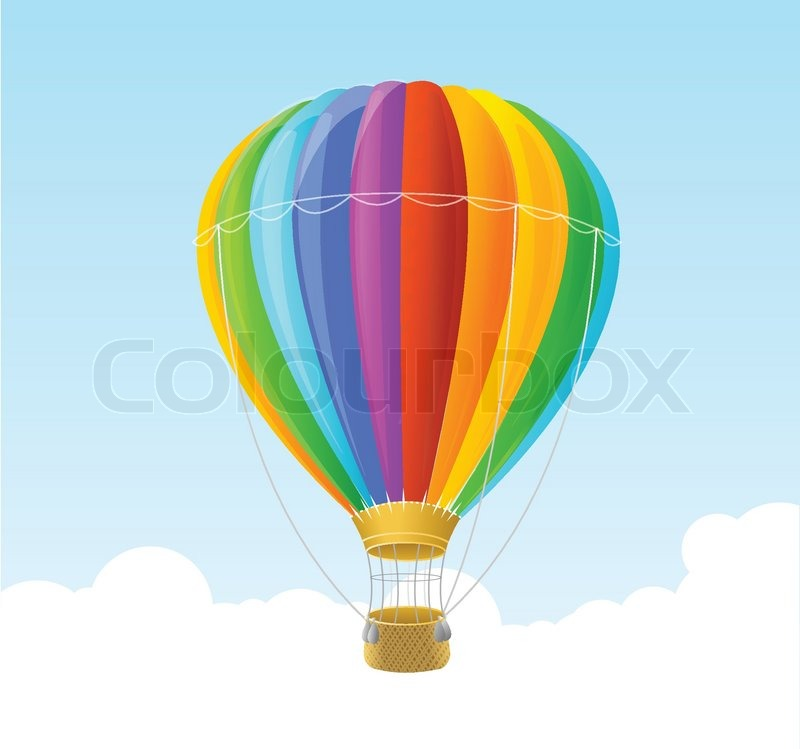 vector rainbow air ballon hintergrund stock vektor. Black Bedroom Furniture Sets. Home Design Ideas