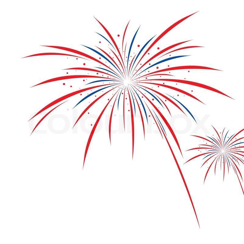 Firework design on white background | Stock Vector | Colourbox