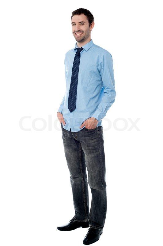 Full length image of stylish male sales executive | Stock Photo ...