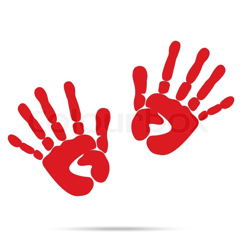 popular scream red blood two handprints halloween isolated on white background vector stock vector colourbox - Blood For Halloween