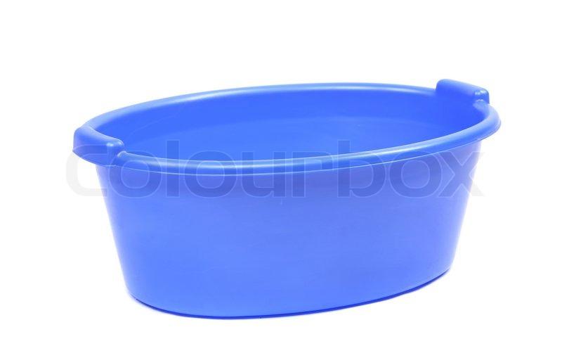 Blaue kunststoff waschbecken stockfoto colourbox for Kunststoff waschbecken