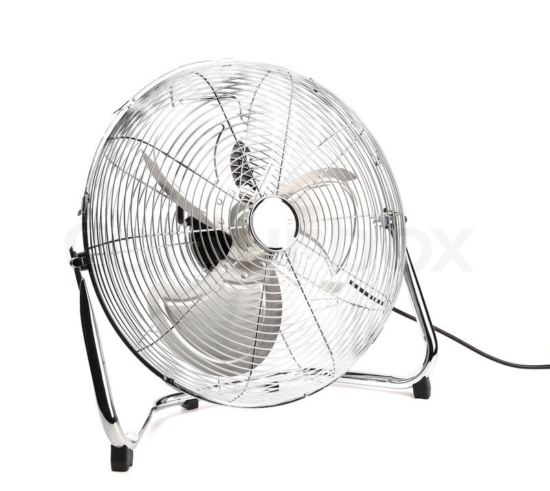 front view of electric fan  isolated on