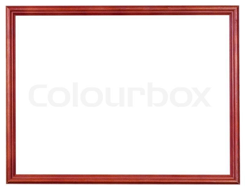 Hölzerne rote Bilderrahmen mit ausgeschnittenen Leinwand | Stockfoto ...