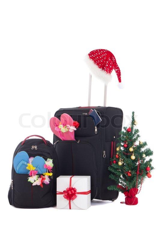 weihnachten reise koffer und packpack geschenkbox und. Black Bedroom Furniture Sets. Home Design Ideas