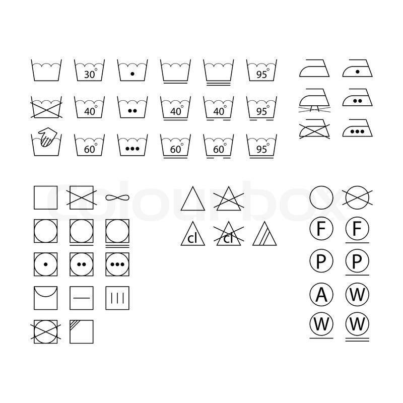 Laundry Symbols Stock Vector Colourbox