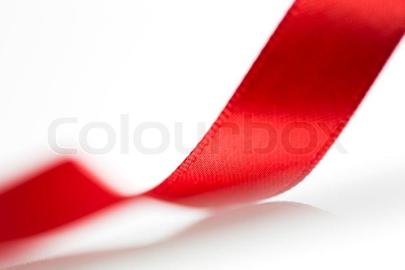 39e62f606 Smukke stof rødt bånd på hvid ... | Stock foto | Colourbox