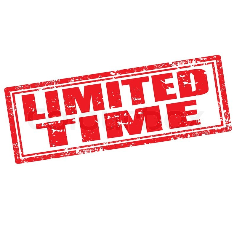 Limited Time-stamp | Stock Vector