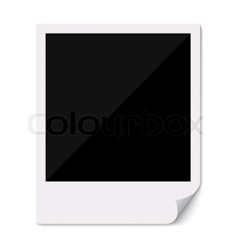 Blank Polaroid Bilderrahmen mit gekrümmten Ecke | Stockfoto | Colourbox