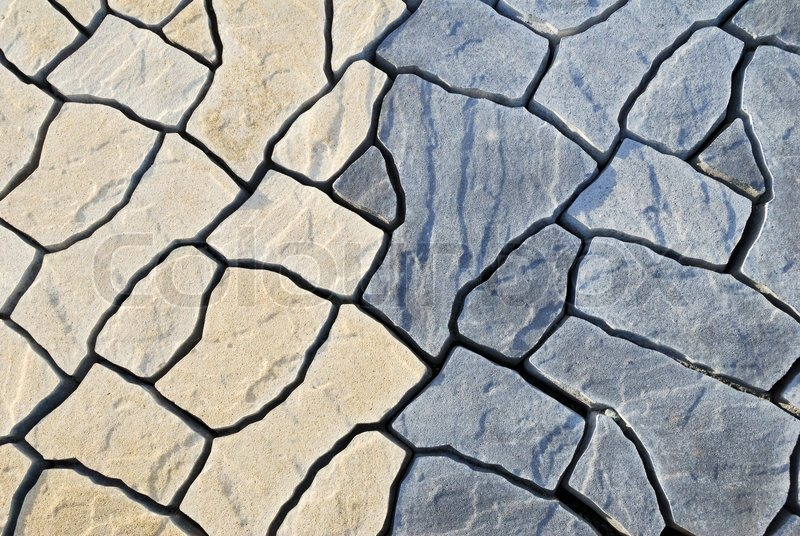 Abstract Background Paving Consisting Of Irregular Stones