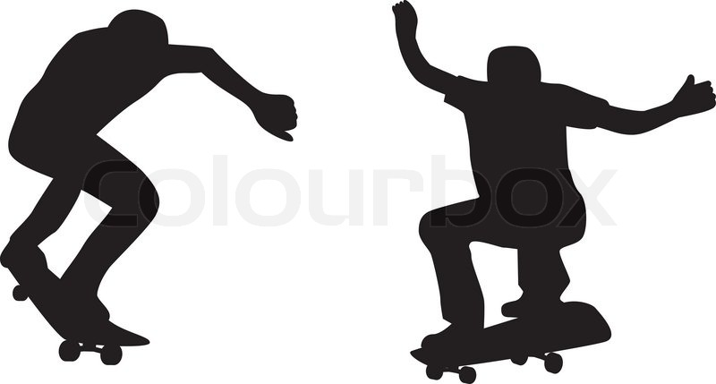 Skateboarder Silhouette | Stock Vector | Colourbox