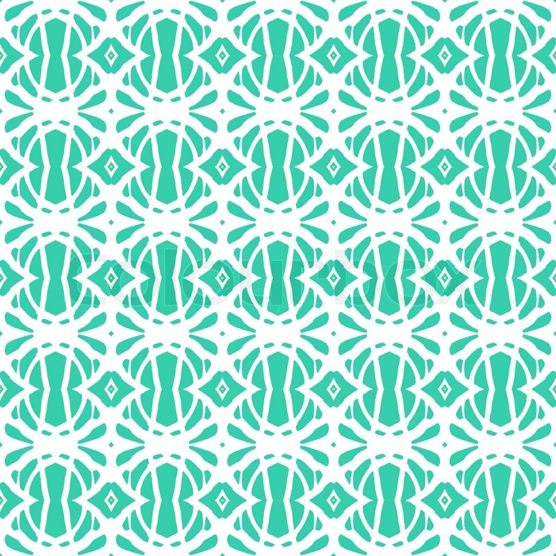 1920s art deco pattern in tropical aqua blue texture for for Fashion fabrics