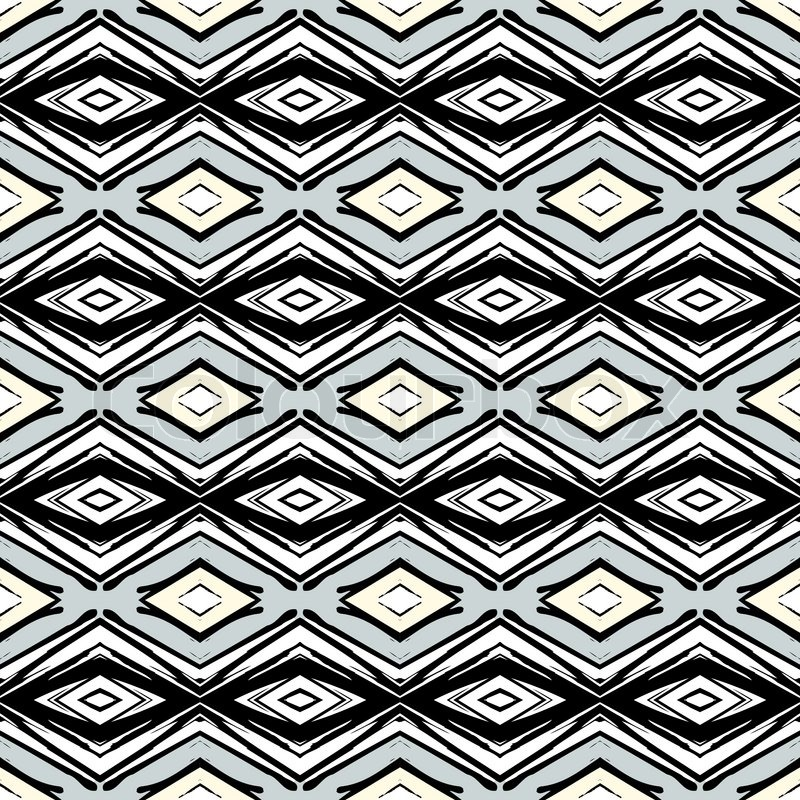 hand drawn folk ethnic ornamented seamless pattern with thick black lines in art deco style texture for web print vector art deco furniture lines