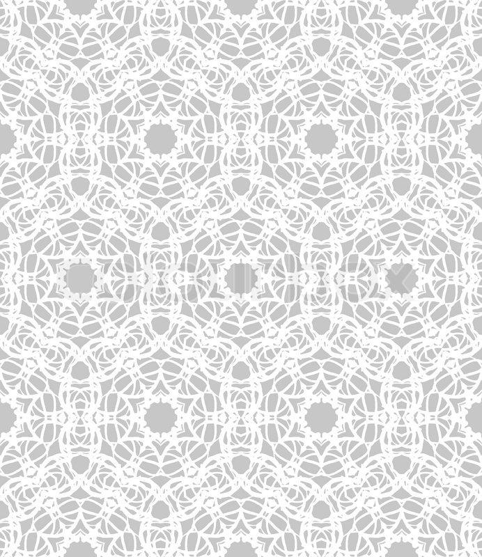 Luxurious elegant linear seamless vector pattern in white grey luxurious elegant linear seamless vector pattern in white grey with lacing elements texture for web print wedding invitation stock vector colourbox stopboris Image collections