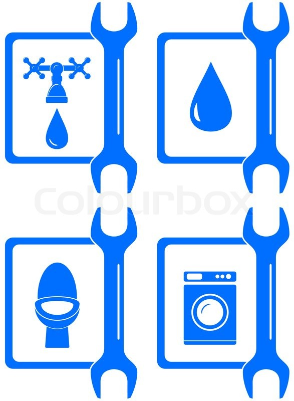 Icons For Plumbing Repair Stock Vector Colourbox