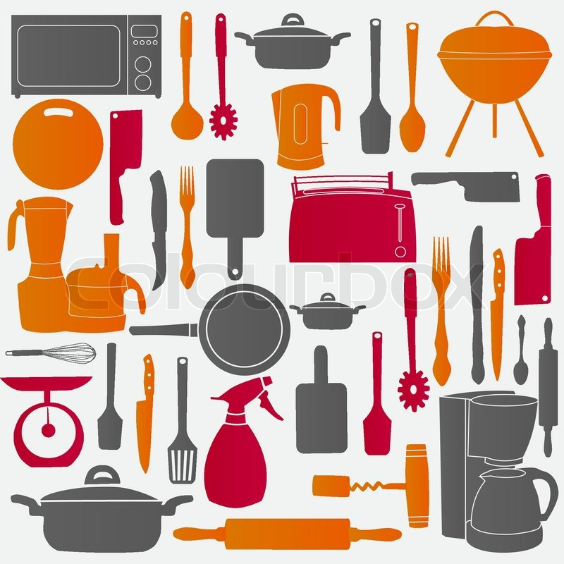 Kitchen Tools Vector vector illustration of kitchen tools for cooking | stock vector