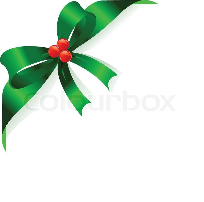 Green Christmas Ribbon