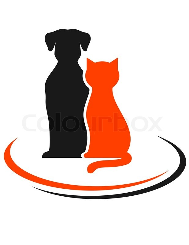 veterinary sign with colorful pets stock vector colourbox
