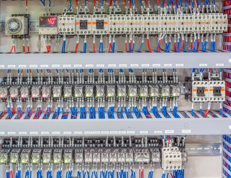 Automation Panel Board With Magnetic PLC And Control