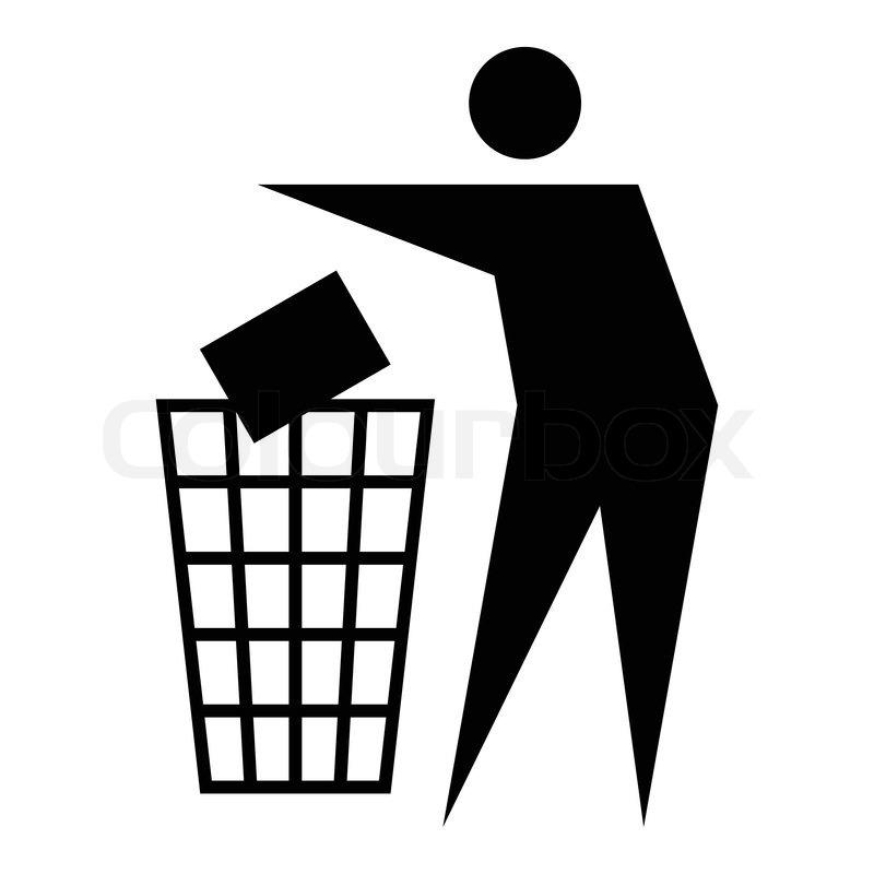 Recycle Bin Trash Can Icon Symbol Vector Stock 32186796