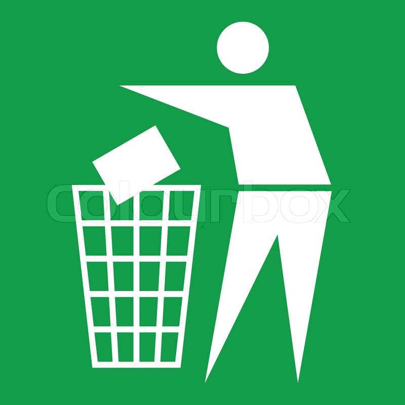 Litter Sign Stock Vector Colourbox