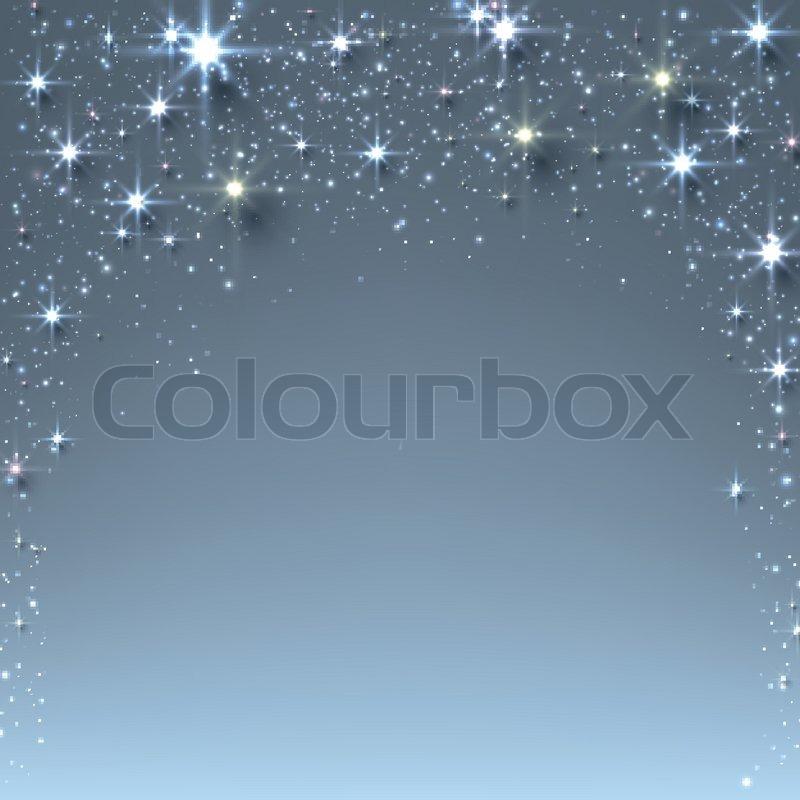 Weihnachten Sternenhimmel Hintergrund mit funkelt | Vektorgrafik ...