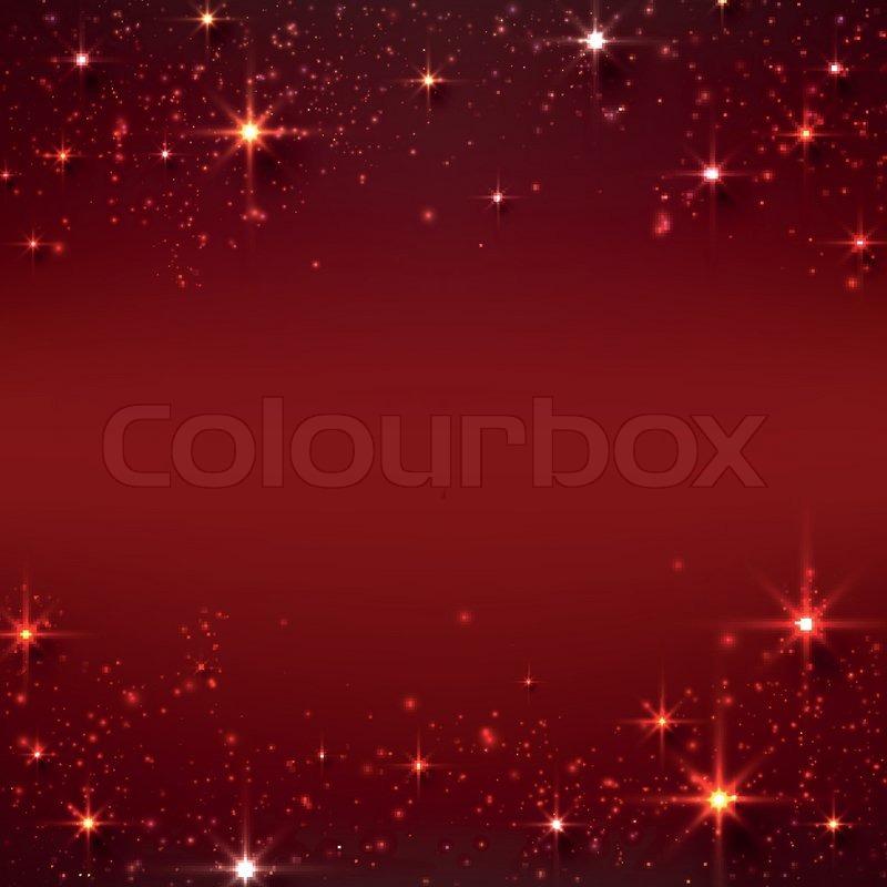 Weihnachten rot sternenhimmel hintergrund vektorgrafik - Weihnachten hintergrund kostenlos ...