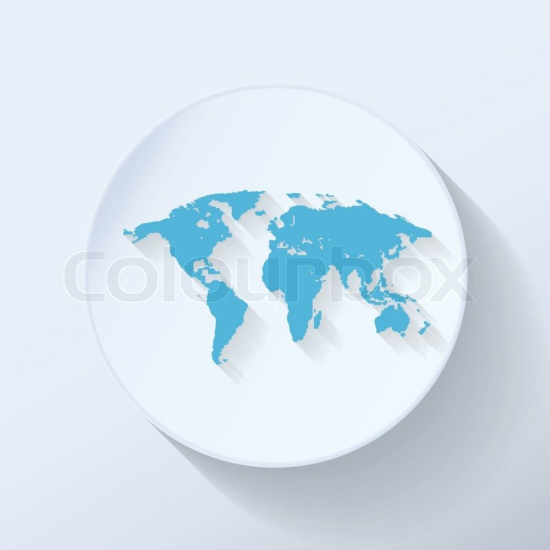Illustration world map flat icon with light blue color stock illustration world map flat icon with light blue color stock vector colourbox gumiabroncs Gallery