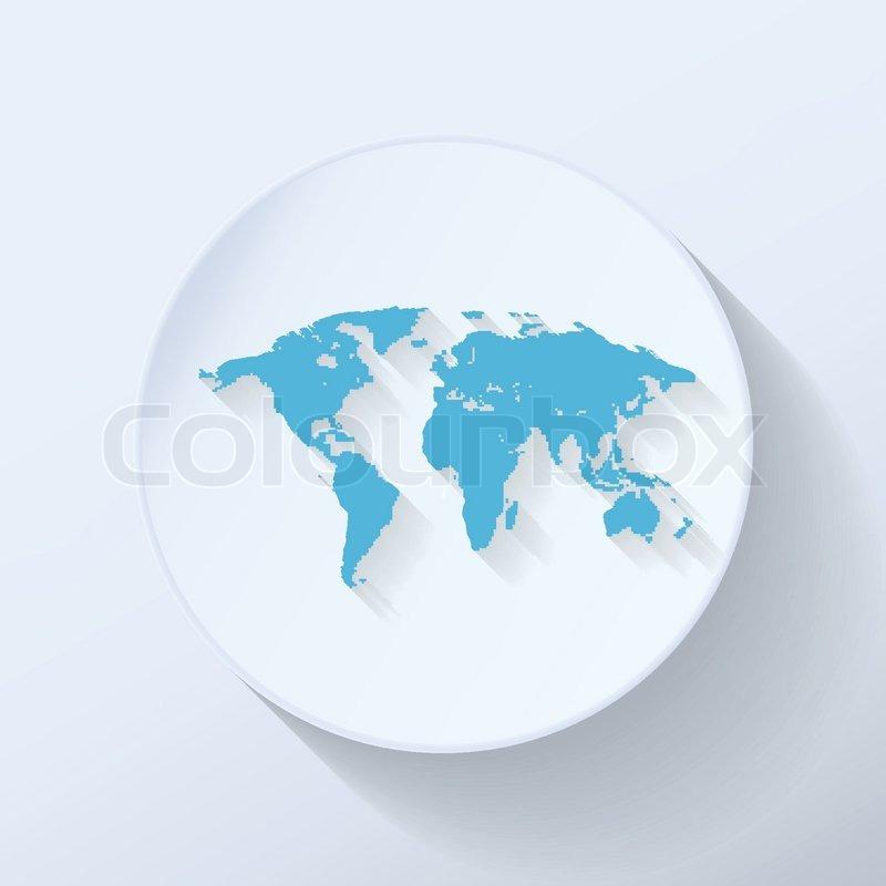 Illustration world map flat icon with light blue color stock illustration world map flat icon with light blue color vector gumiabroncs Gallery