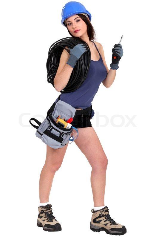 Sexy Frauen Elektriker | Stock-Foto | Colourbox Lila Costume