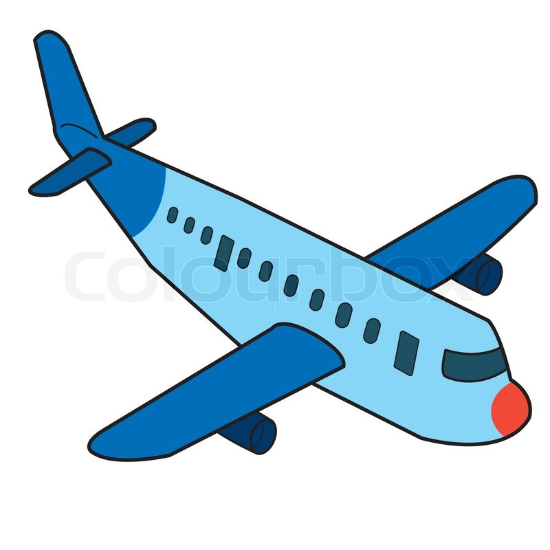 Picture of airplane cartoon