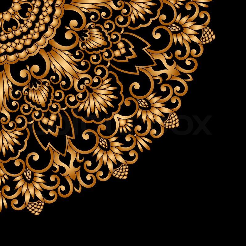 Vector gold ornament   Stock Vector   Colourbox