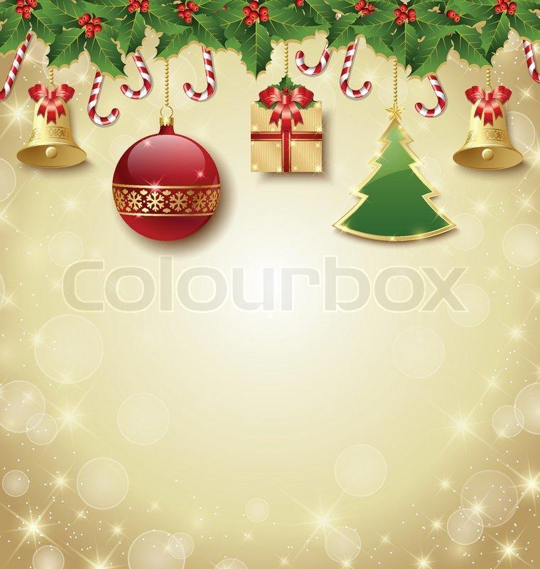 traditionelle weihnachtsdekoration vektorgrafik colourbox. Black Bedroom Furniture Sets. Home Design Ideas
