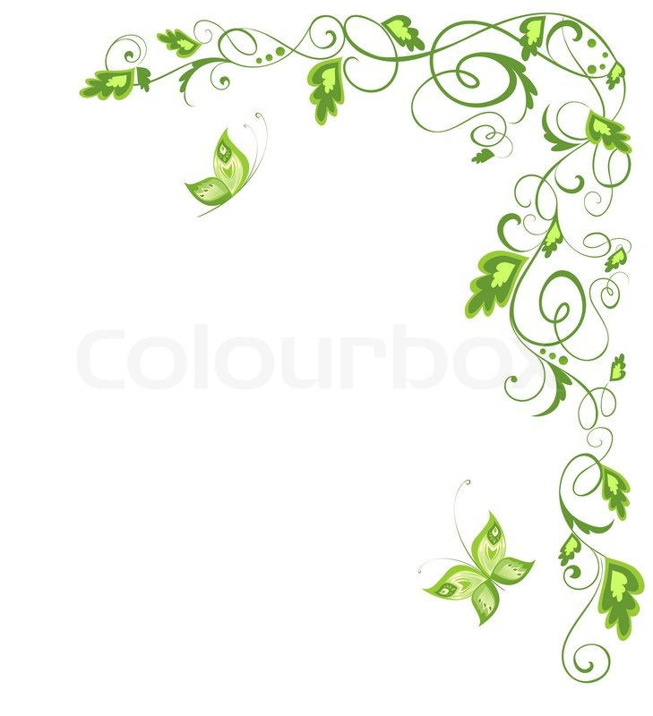 Green vintage border Raster copy | Stock Photo | Colourbox