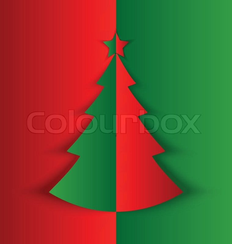 einfache gefalteten weihnachtsbaum vektorgrafik colourbox. Black Bedroom Furniture Sets. Home Design Ideas
