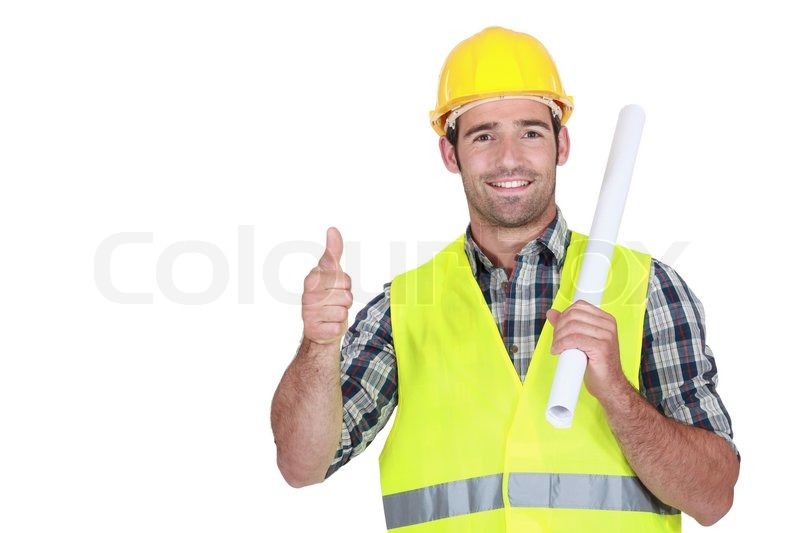 architect in high visibility jacket stock photo colourbox
