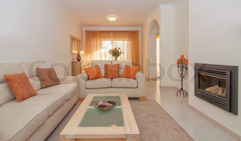 Fantastisk Luksuriøs lounge spisestue stue med | Stock foto | Colourbox EK97