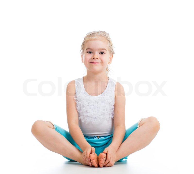 Kind Mädchen turnen | Stockfoto