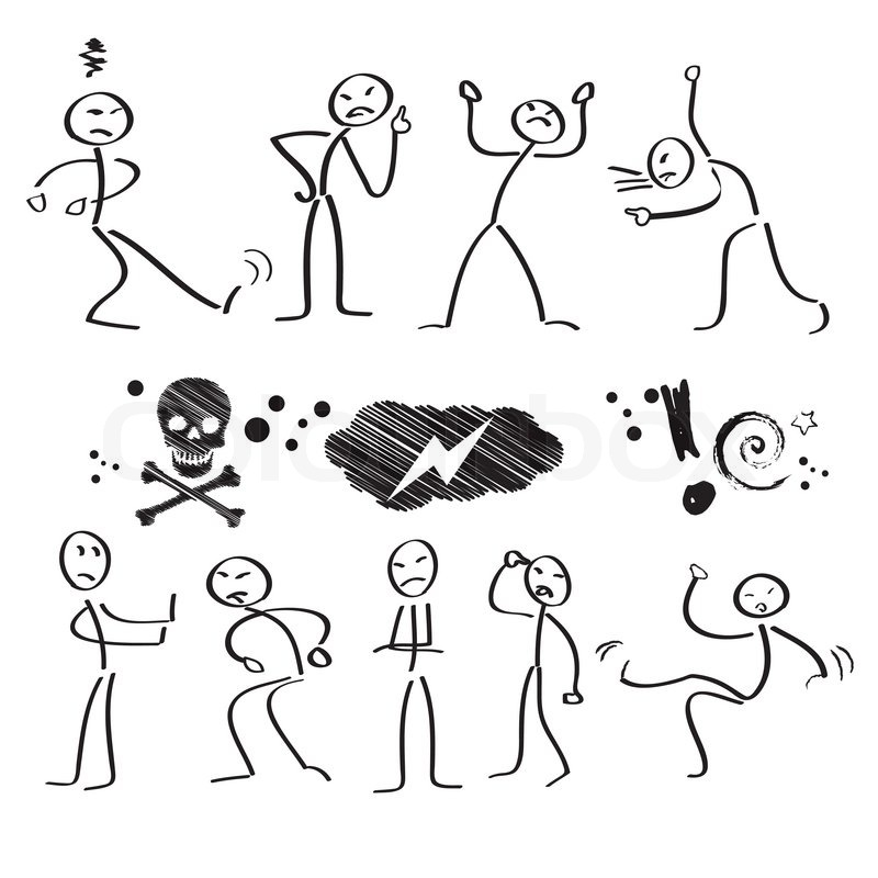 mediation, Konflikt, argumentation, bunt cartoon, männchen, clipart ...