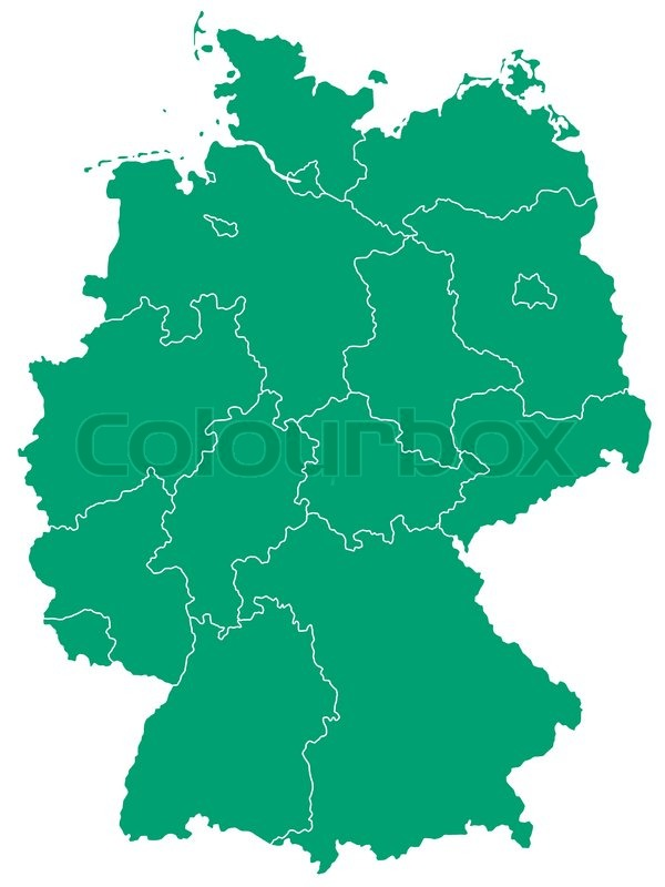 Silhouette Map Of The Germany Source Stock Vector Colourbox