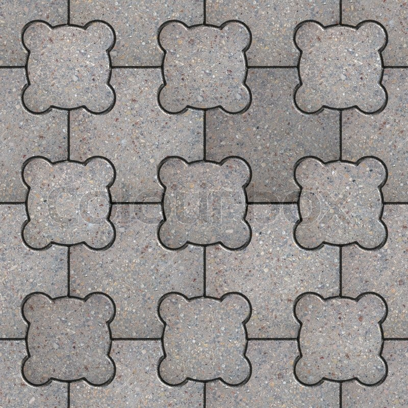 Paving Slabs Seamless Tileable Texture Stock Photo