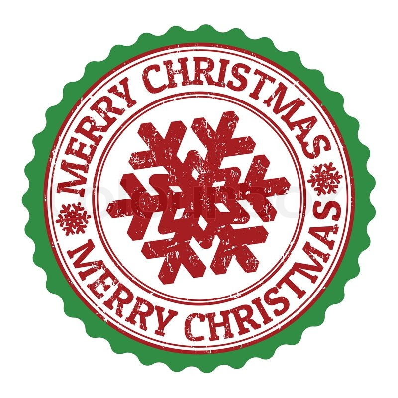 merry christmas stamp stock vector colourbox - Christmas Stamp
