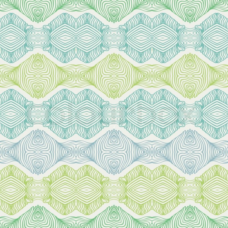vector seamless pattern with thin delicate elegant lines ornamental