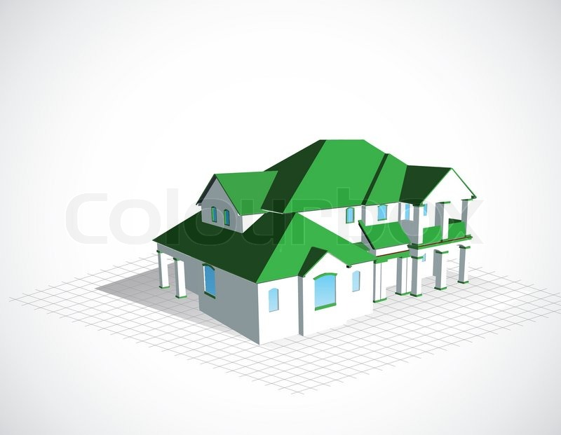 anlage planung zeichnung vektorgrafik colourbox. Black Bedroom Furniture Sets. Home Design Ideas