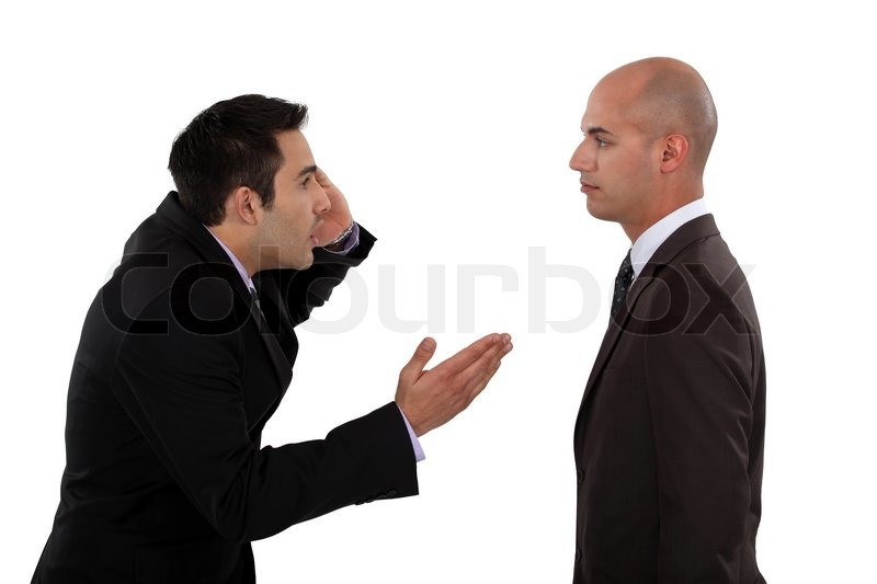 Two businessmen arguing | Stock Photo | Colourbox