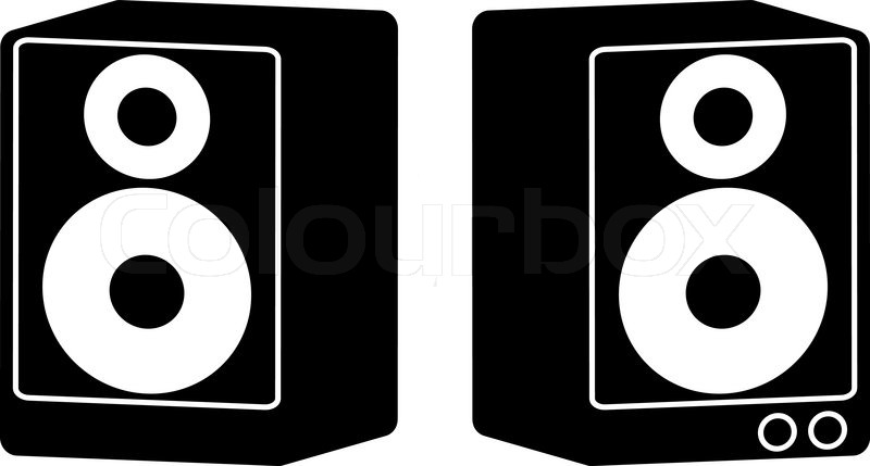 Vector Speakers In Diffrent Colors Stock Vector Colourbox
