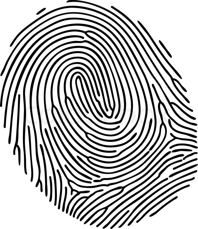 vector black fingerprint on white background stock vector colourbox rh colourbox com fingerprinting victoria texas fingerprinting victorville