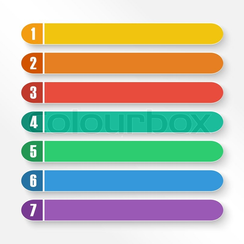 Vector Set Of Color Option Bars Eps10 Stock Vector