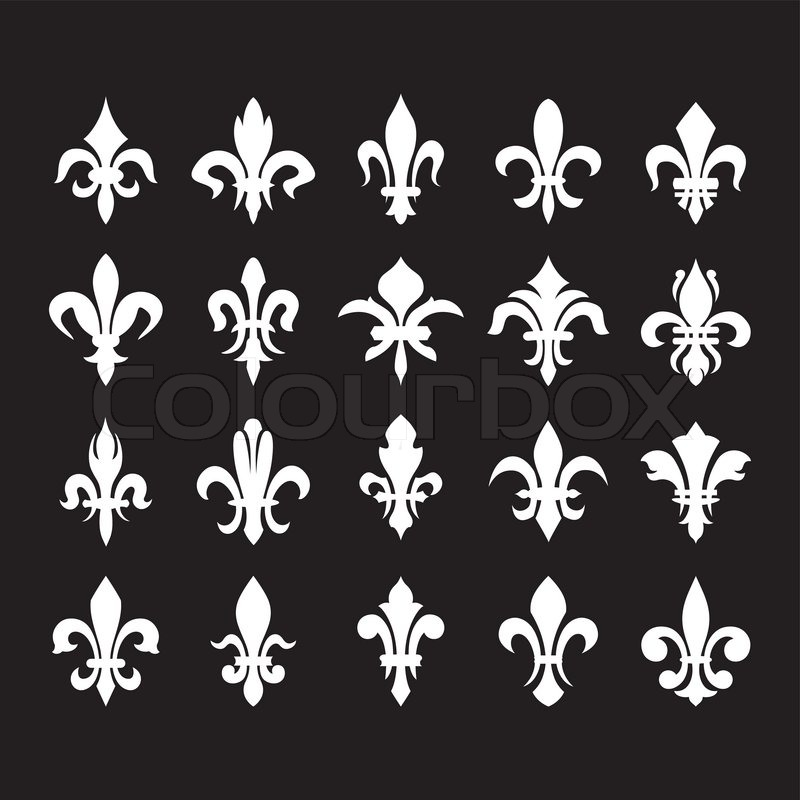 Heraldic Symbols Fleur De Lis Stock Vector Colourbox