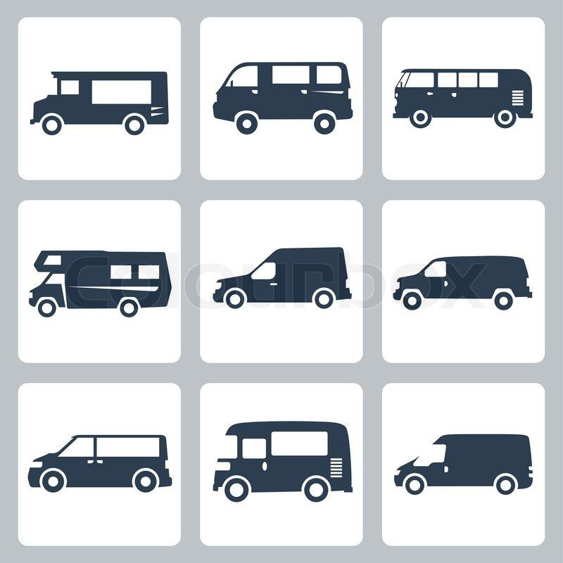 Vector lieferwagen seitenansicht icons vektorgrafik for Meine wohnung click design download