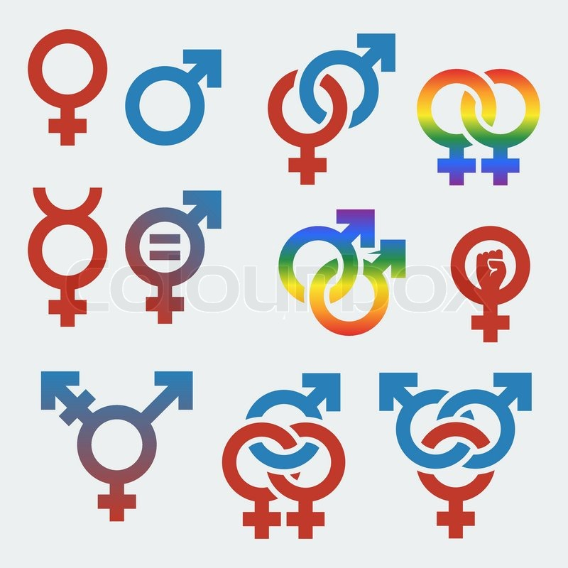 Vector symbols of sexual orientation and gender | Stock